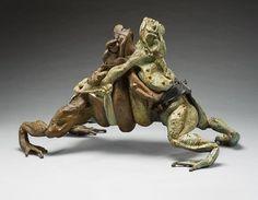 """Sumo Wrestling Toads"" Art by Steve Worthington"