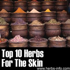 ❤ Another useful list, click the link to learn all about herbs for the skin! ❤