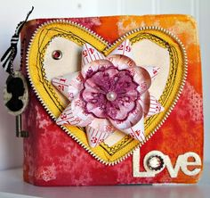 love the heart made from a zipper