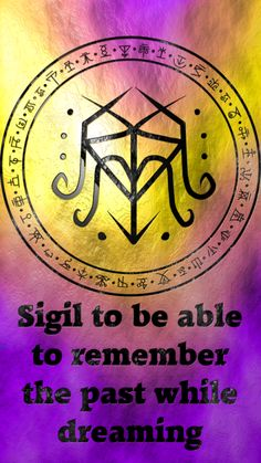 Sigil to be able to remember the past while dreaming requested by anonymous Magick Book, Wiccan Spell Book, Magick Spells, Wicca Witchcraft, Witch Spell, Wiccan Symbols, Magic Symbols, Symbols And Meanings, Dream Symbols