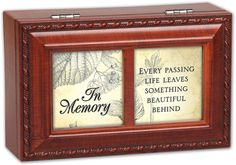 In Memory Bereavement Rich Woodgrain Finish Petite Jewelry Music Box - Plays Wind Beneath My Wings *** Visit the image link more details.