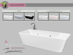 Kala Bathroom - Bathtub Found in TSR Category 'Sims 4 Showers & Tubs' The Sims 4 Pc, Sims Four, Sims 4 Tsr, Sims Cc, Sims 4 Traits, Muebles Sims 4 Cc, Sims 4 Kitchen, Sims 4 Mods Clothes, Sims 4 Bedroom