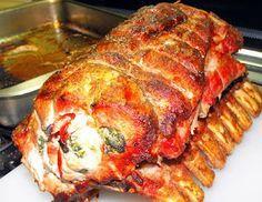 NAVIDAD PERUANA * PERUVIAN CHRISTMAS: ENROLLADO DE CERDO / Schweineroll / 轧制猪肉 / СТАЛИ С...