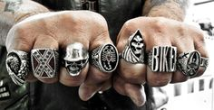 Biker rings are quickly becoming some of the most stylish and masculine jewelry for men and women. #Biker #Bike #Roadies #Bmxbikes