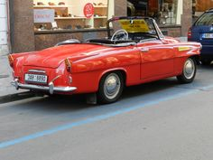 1961 Skoda Felicia Cabriolet - Seen in Prague Mobile Art, Felicia, My Passion, Old Cars, Prague, Awkward, Inventions, Porsche, Cars