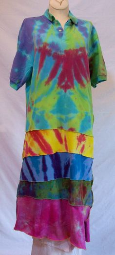 c4f84efbace Upcycled TieDyed Nautica Polo Shirt Dress by DyedStitches on Etsy, $45.00