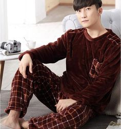 Cheap pijama hombre, Buy Quality male pyjamas directly from China men flannel pajamas Suppliers: 2017 Winter Mens Flannel Pajama Sets O-Neck Long Sleeve Warm Coral Fleece Sleepwear Two Piece Set Male Pyjamas Pijama Hombre Mens Flannel Pajamas, Fleece Pajamas, Mens Pjs, Men's Pajamas, Men Trousers, Sleepwear Sets, Textiles, Lounge Wear, Lounge Pants
