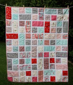Similar to the blue/yellow quilt although not as sharp or crisp due to the color selection. Gives the quilt a totally different look. DLW