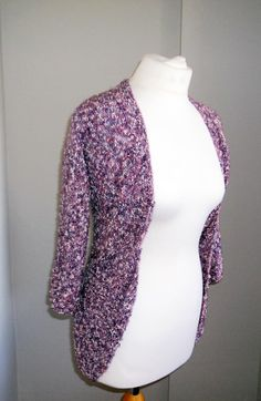 SALE Hand-Knitted Fitted Cardigan Purple by SheynasKnittedKnacks