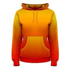 Yellow to Red Gradient Women s Pullover Hoodie by singerandsage