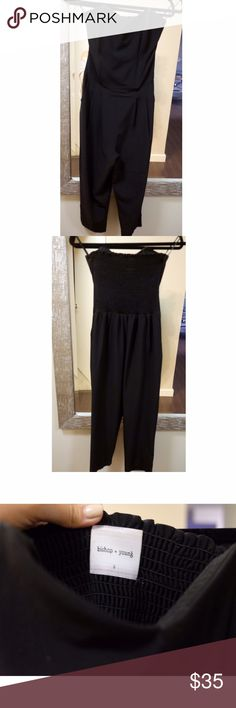 Bishop + Young Strapless Black Jumper Gently wired Corset-like structure with pockets to make a professional yet sophisticated look that can be worn for many occasions. Bishop + Young Pants Jumpsuits & Rompers