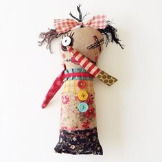 Art Doll Plushie Monster Doll Softie Soft by dollyzemomma on Etsy