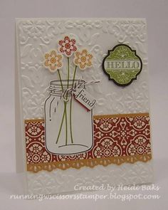 Jar of Flowers by hlw966 - Cards and Paper Crafts at Splitcoaststampers
