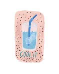 enfriarlo. imprimir / / verano super cool ilustración por twamies