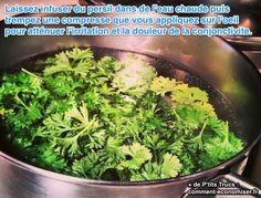 Pour soigner la douleur d'une conjonctivite, il suffit d'utiliser du persil. Regardez :-)  Découvrez l'astuce ici : http://www.comment-economiser.fr/compresses-persil-yeux-irrites-conjonctivite.html?utm_content=buffer9e449&utm_medium=social&utm_source=pinterest.com&utm_campaign=buffer