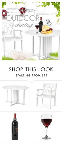 """""""Outdoor Dining"""" by totwoo ❤ liked on Polyvore featuring interior, interiors, interior design, home, home decor, interior decorating, Improvements, Match and Libbey"""