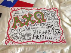 Sorority crafts crafts alpha chi omega a chi o Greek this is beautifullll #SororityCrafts