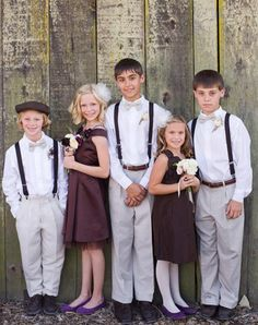 wedding photography: children of the wedding party