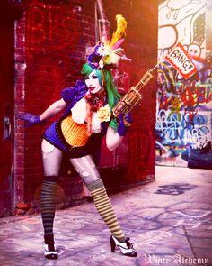 Outfit, Model, Styling by Bonnie Elizabeth Scott (White Alchemy) Photography by Jeremy Rahn Female Joker Cosplay, Cosplay Costumes, Halloween Costumes, Elizabeth Scott, Scott White, Amazing Cosplay, Cosplay Girls, Comic Art, Style Inspiration