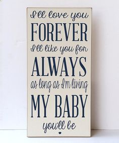Another great find on #zulily! Cream & Navy 'Love You for Always' Wall Sign #zulilyfinds