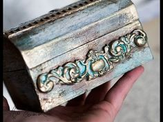mixed media box tutorial step by step / sprays Tattered Angels - YouTube
