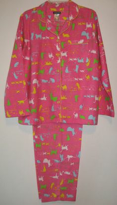 Nwt Womens Pink Winter Flannel Kitty Cat Pajamas S M L XL Joe Boxer Sleepwear                               eBay TALK: Get answers and c