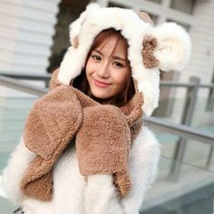 2364503537085 35 Awesome Cosplay cat winter hats with ears for women images