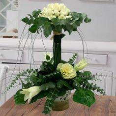 Centros de flores Kirchen, Topiary, Ikebana, Floral Arrangements, Floral Design, Centerpieces, Bouquet, Vase, Wedding