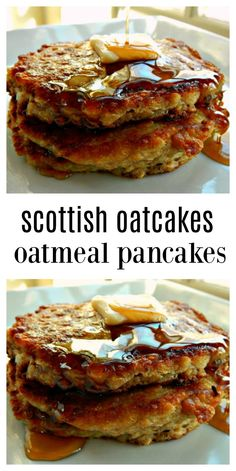 Scottish Oatcakes Oatmeal Pancakes - Easy mix ahead overnight pancakes, almost ready to go in the am. Hearty, healthy and downright delicious! They freeze great, too. pfannkuchen for kids recipe einfach für kinder von Grund auf und pyjamaparty Oatmeal Pancakes Easy, Pancakes And Waffles, Pecan Pancakes, Pancake Muffins, Oat Muffins, Scottish Recipes, Norwegian Recipes, Irish Recipes, Cooking Recipes