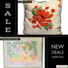 Today Only! 30% OFF this item. Follow us on Pinterest to be the first to see our exciting Daily Deals. Today's Product: Large Vintage Preppy Chic Hand Stiched Wool Needlepoint & Velvet Decorative Pillow Buy now: https://orangetwig.com/shops/AABdT38/campaigns/AACbwQf?cb=2016004&sn=Heathertique&ch=pin&crid=AACbwQX&exid=249197265&utm_source=Pinterest&utm_medium=Orangetwig_Marketing&utm_campaign=03-25-16 #vintagefurnitureonline #homedecor