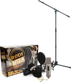 Bundle offer comprising Rode Studio Solution Set Largediaphragm Microphone Studio Solution SetSet consists of: Rode A, DeLuxe shock mount with fabric pop filter, 6 m XLR cable, Dust cover bag Tech. Definitely Maybe, Microphone Studio, Pictures