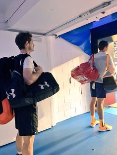 Waiting to go on court for the SF Aus Open  29/1/16