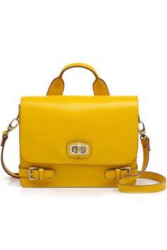 Retro Style Yellow Briefcase
