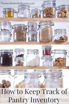 How to Keep Track of Kitchen Inventory - Save time and money by keeping a kitchen inventory.