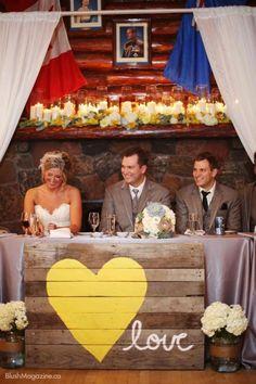 diy wooden palette wedding decor / http://www.himisspuff.com/rustic-wood-pallet-wedding-ideas/3/
