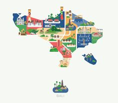 Maps of Asia–lovely illustrated by Jing Zhang.