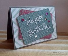 The Creative Corner: Happy Birthday - Die Cut