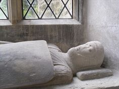 Effigy of a Knight, early 14th century, possibly of Robert or William Mallet. Shepton Mallet, Somerset.