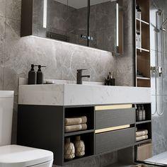 Small Bathroom Interior, Bathroom Sink Design, Modern Luxury Bathroom, Best Bathroom Designs, Bathroom Design Luxury, Concrete Bathroom, Modern Bathroom Vanities, Modern Small Bathroom Design, Modern Bathroom Inspiration