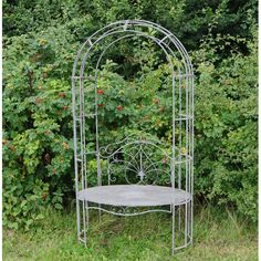 Features: Fabulous and unusual round Caroline Metal Arbour Product Type: Arbour Main Material: Metal Main Material Details: Wood Species: Rattan Ma Metal Arbor, Wooden Arbor, Wooden Garden, Wooden Decks, Traditional Benches, Shade Landscaping, Full Sun Plants, Wooden Planters, Decks And Porches