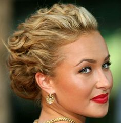 Formal hair up-do for short medium hair