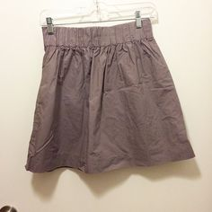 *Last Chance* J.Crew Skirt Size:2; color: lavender; stretchy waistband; 100% cotton (has that crinkly feel to it); worn a couple of times. J. Crew Skirts Mini