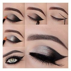 Silver & Black / Cat Eyes Make Up Trend