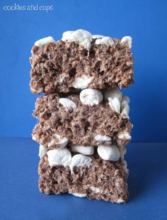 Hot Chocolate Krispies. Made with cocoa krispies, butter, mini marshmallows, and hot chocolate mix.
