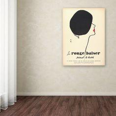 "Trademark Fine Art ""Le Rouge Baiser"" Vintage Advertisement on Wrapped Canvas"