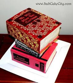 book cake. fancy.
