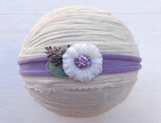 Lavender tieback headbandJersey tiebackPurple by DESERTROSECOUTURE