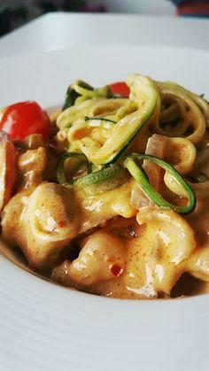 Poulet au lait de coco et spaghetti de courgettes - blog Station Gourmande