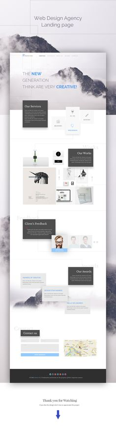 Hi guys, This is another concept I did. simple home page template for web…