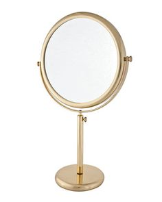 Vanity Stand Brass Double-Side Mirror by Frasco Mirrors at Neiman Marcus.